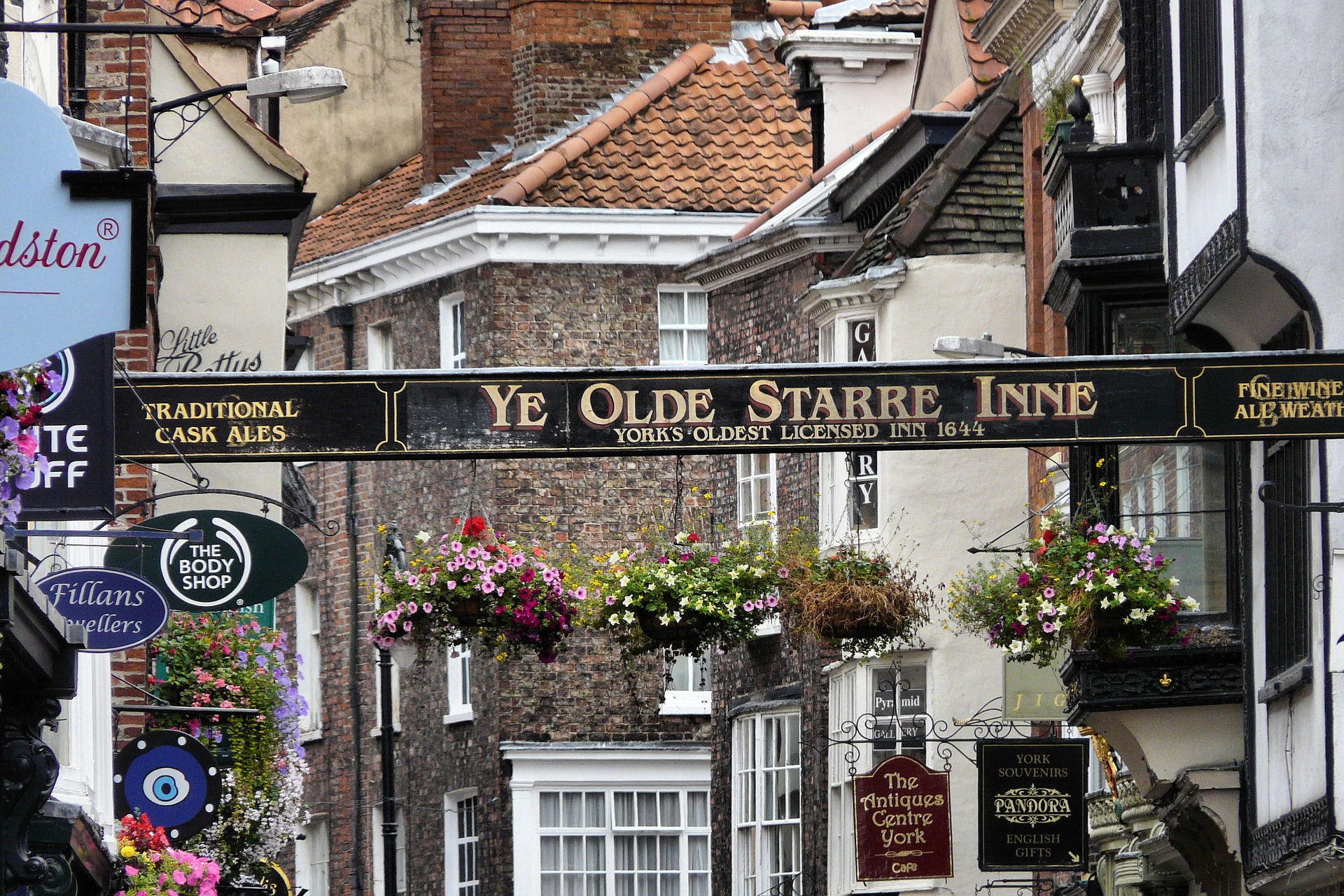 the famous shambles street and shops in york