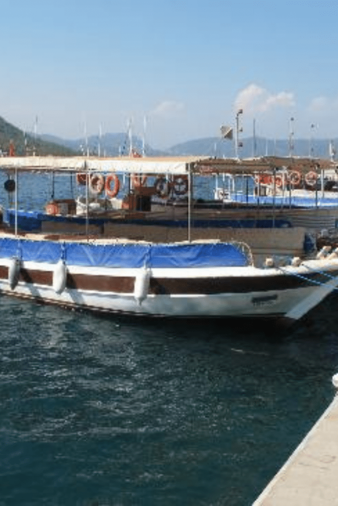 the boat ride from Marmaris to icmeler beach
