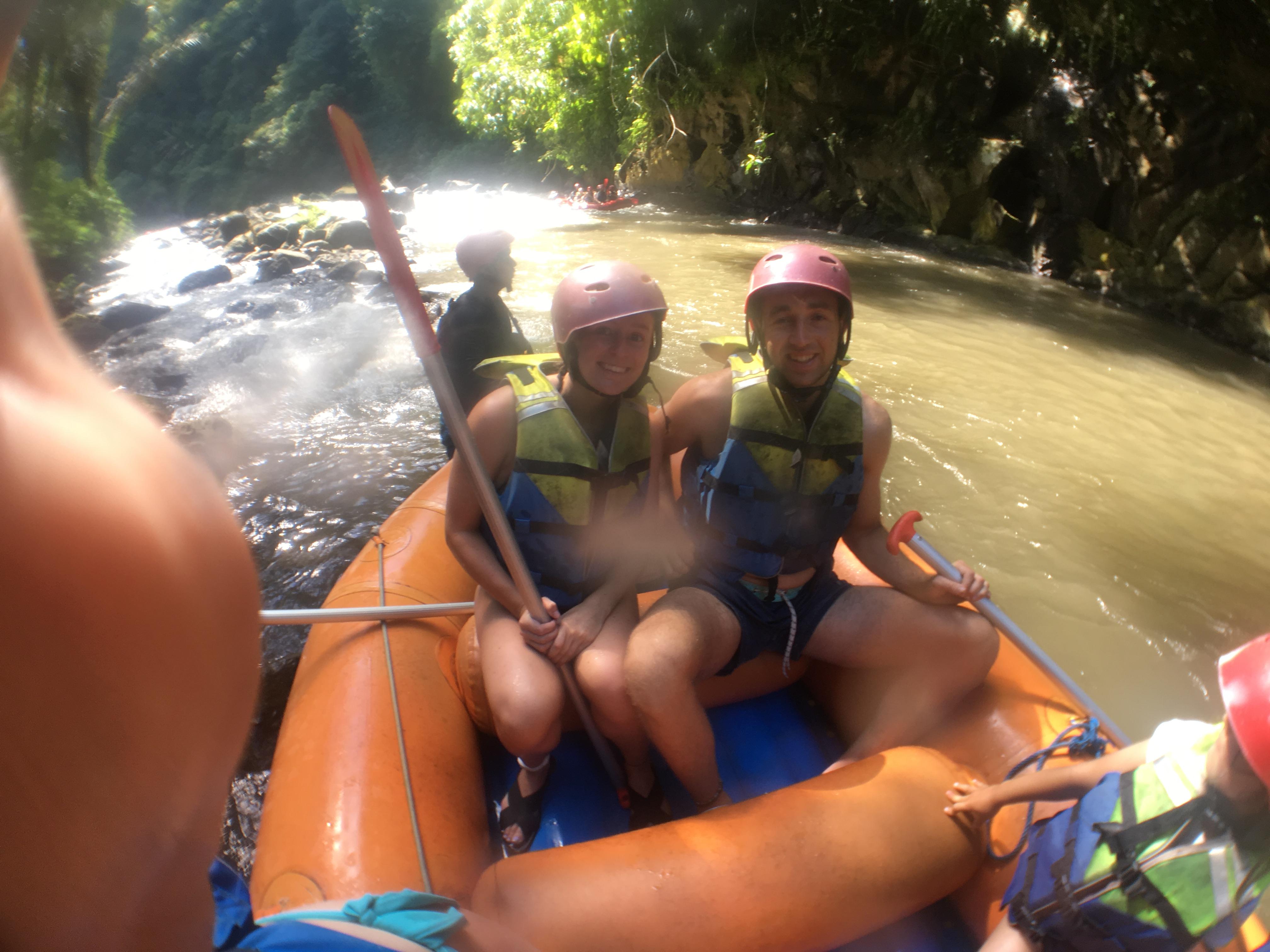 white water rafting of Ubud