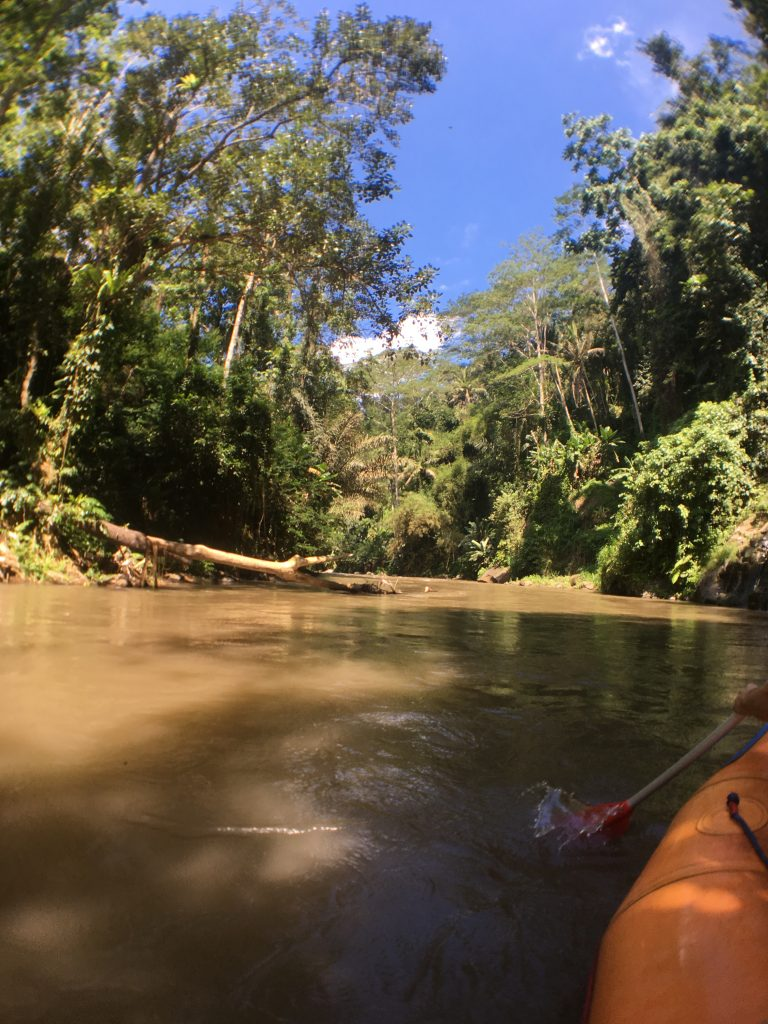 white water rafting of Ubud