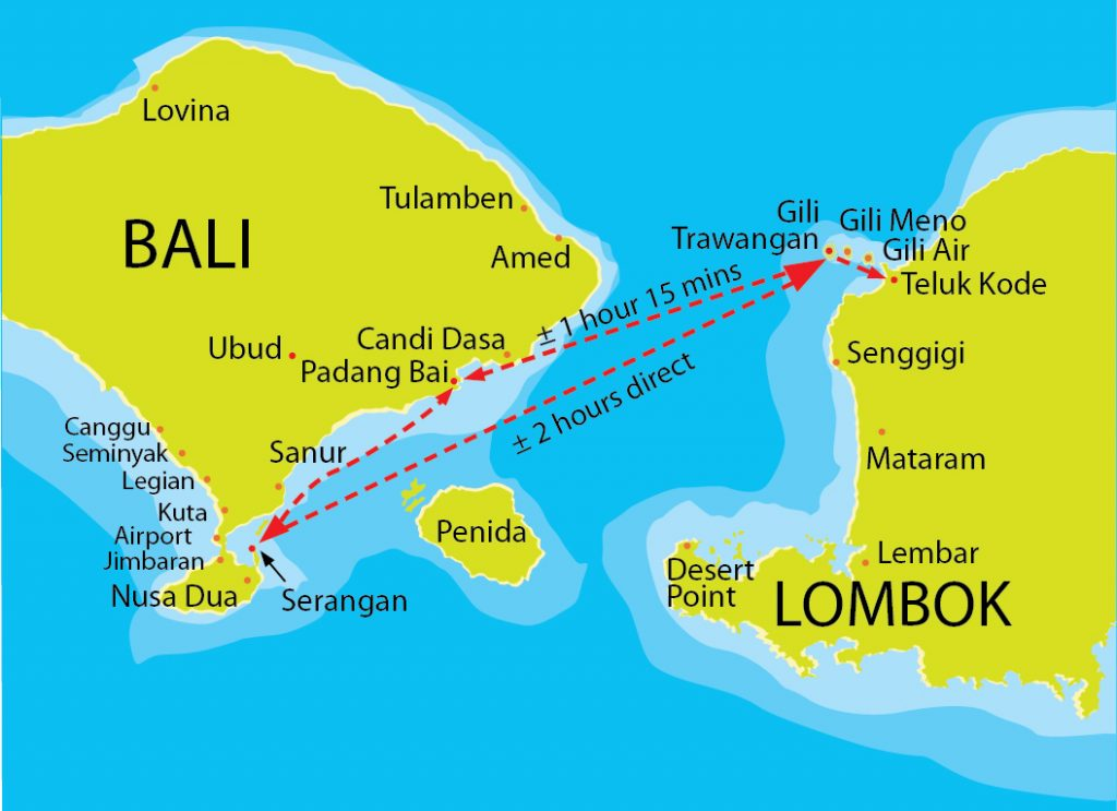 bali attractions map