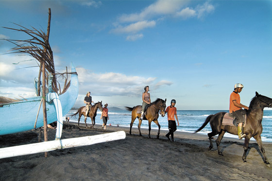 horse riding on Gili Trawangan