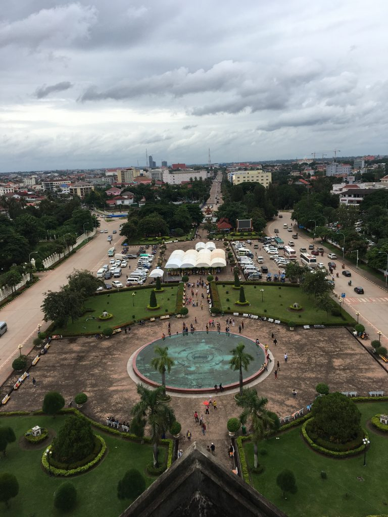 Patuxai viewpoint in Vientiane