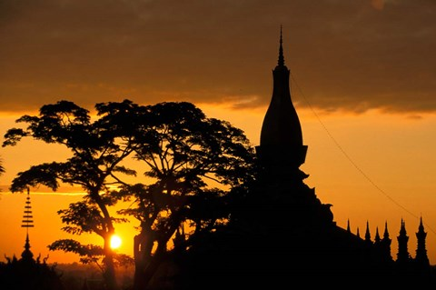 the Vientiane sunrise
