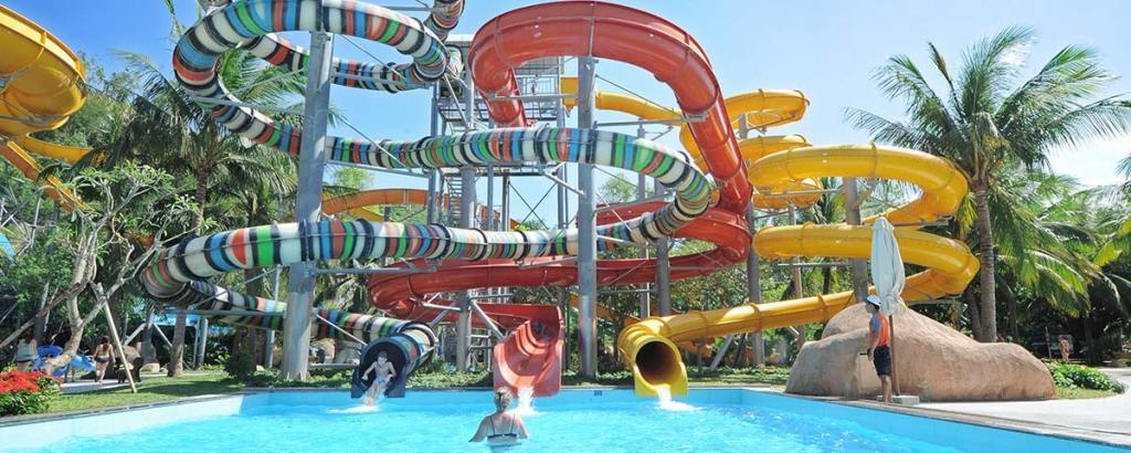 amazing waterslides on the vinpearl pool