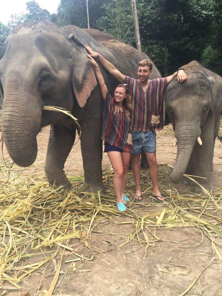 elephant sanctuary Chiang mai tekking and bathing