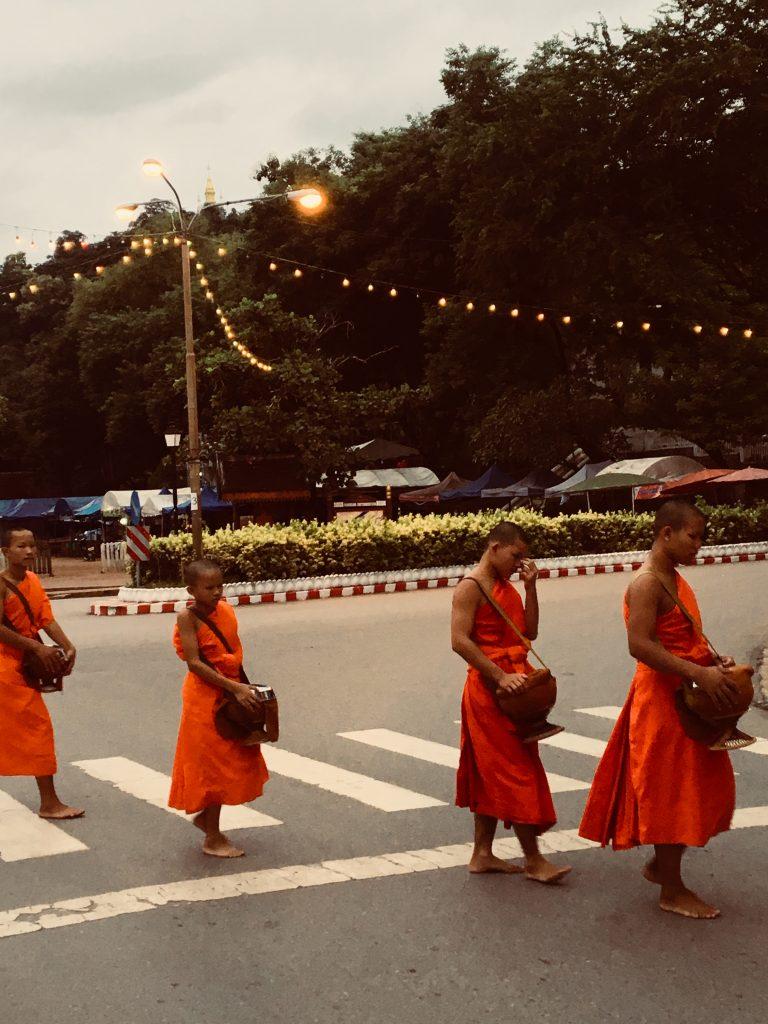 spiritual Alms ceremony Laos
