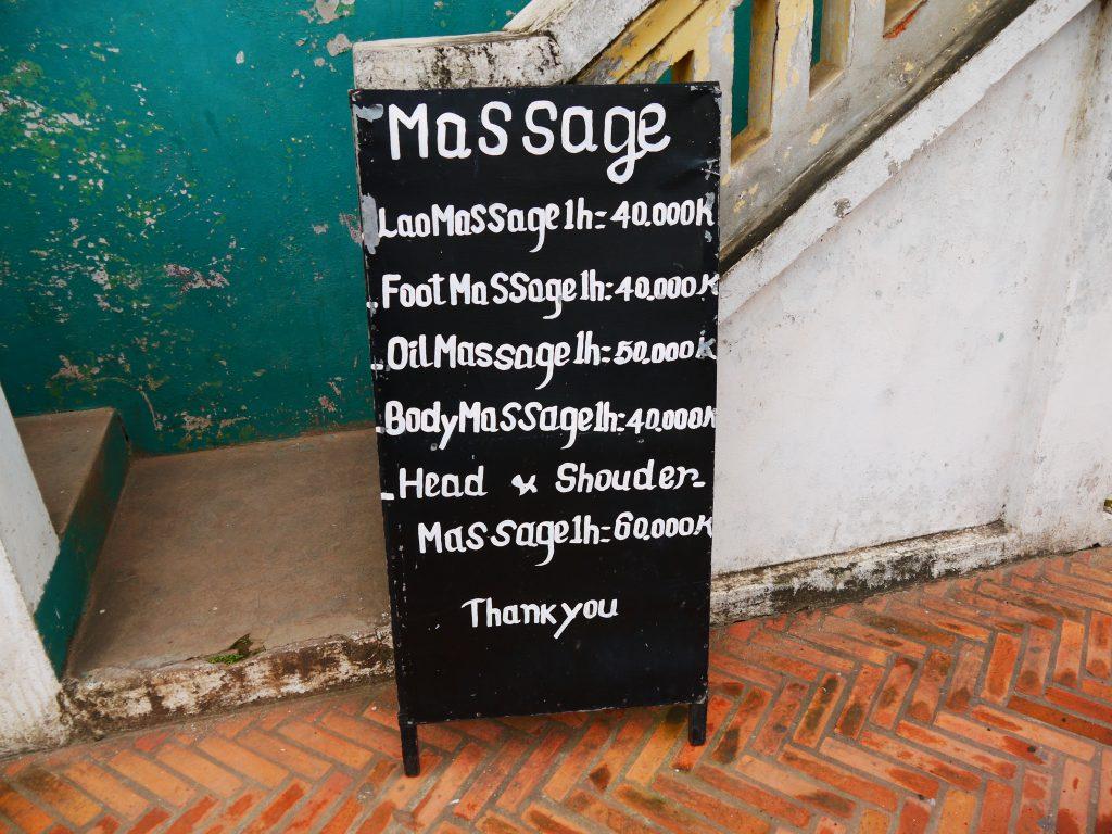 Lao-style massage