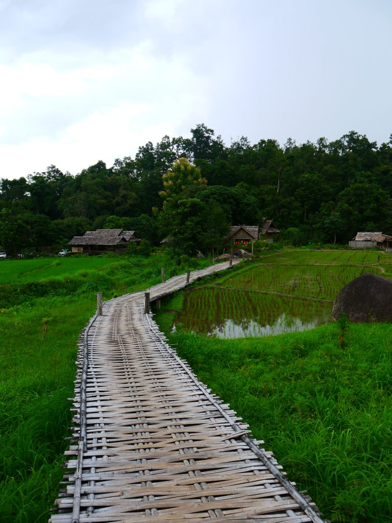 Bamboo Bridge in Pai, pai bamboo bridge