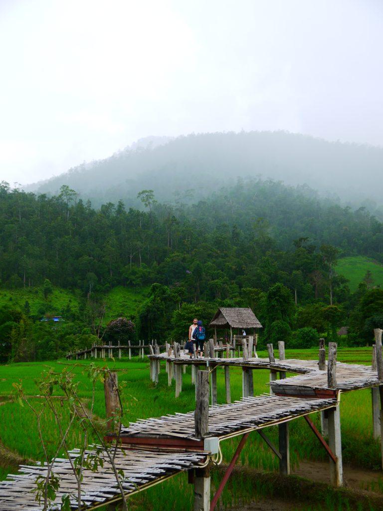 the Pai Bamboo Bridge