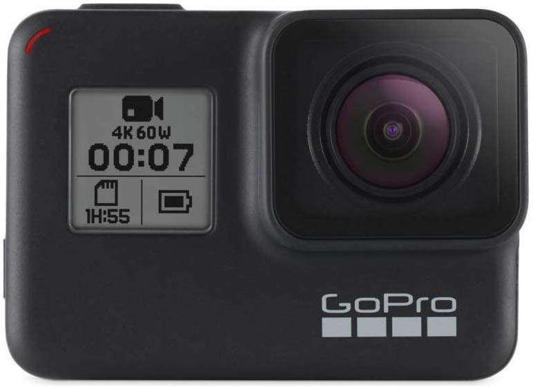the Go Pro hero 7 camera for travelling