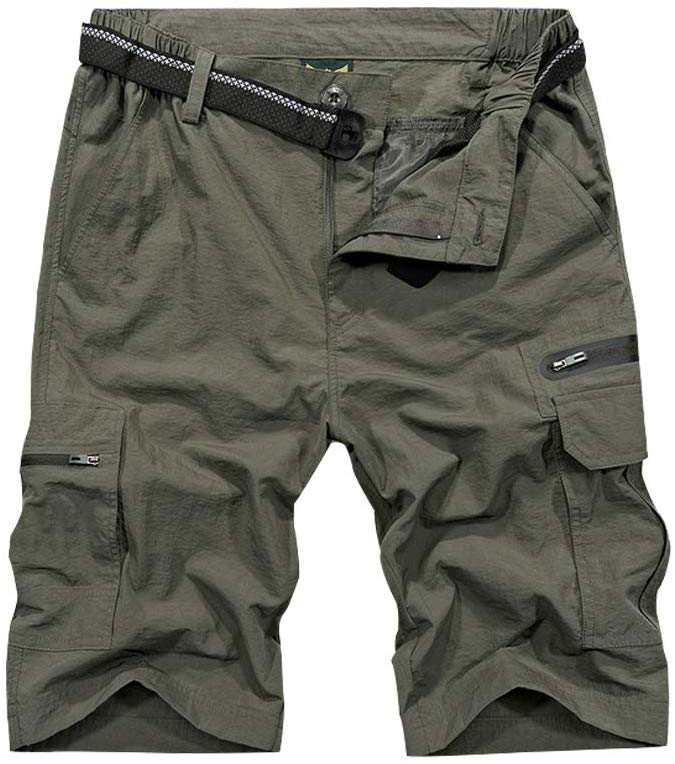 green mens cargo shorts are an Asia backpacking essential