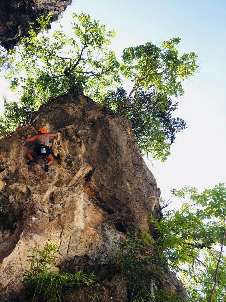 rock climbing on Railay beach