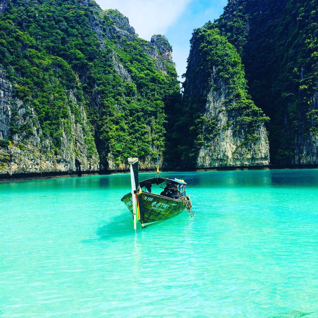 Phi Phi Beach: MAYA BAY BEACH THAILAND; Sleep Aboard And Sharks