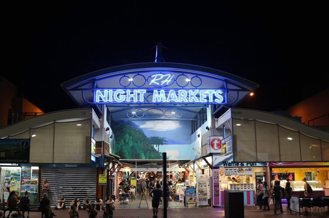 cairns night market, cairns food market, cairns asplonade
