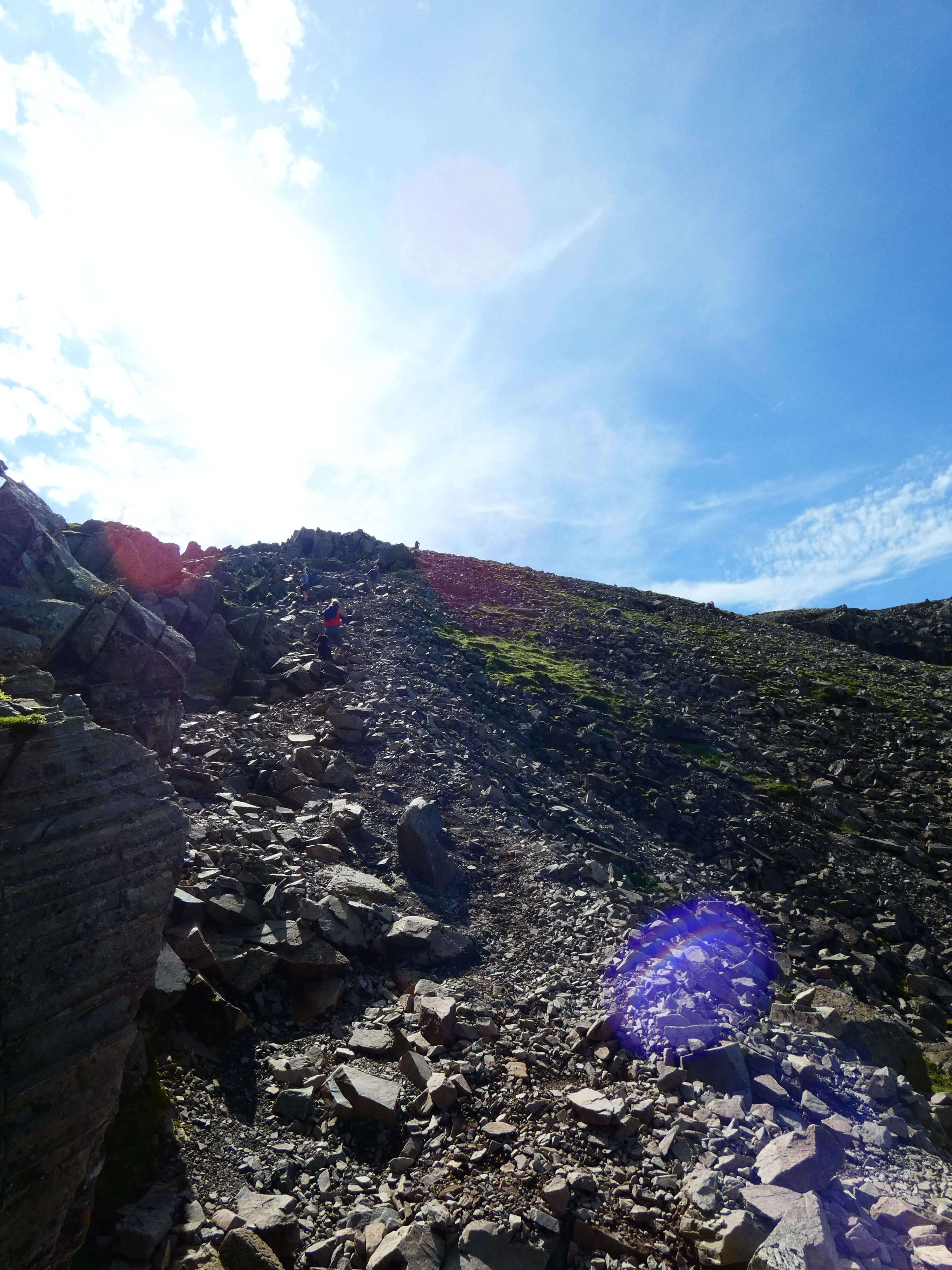 taking the corridor route up scafell pike
