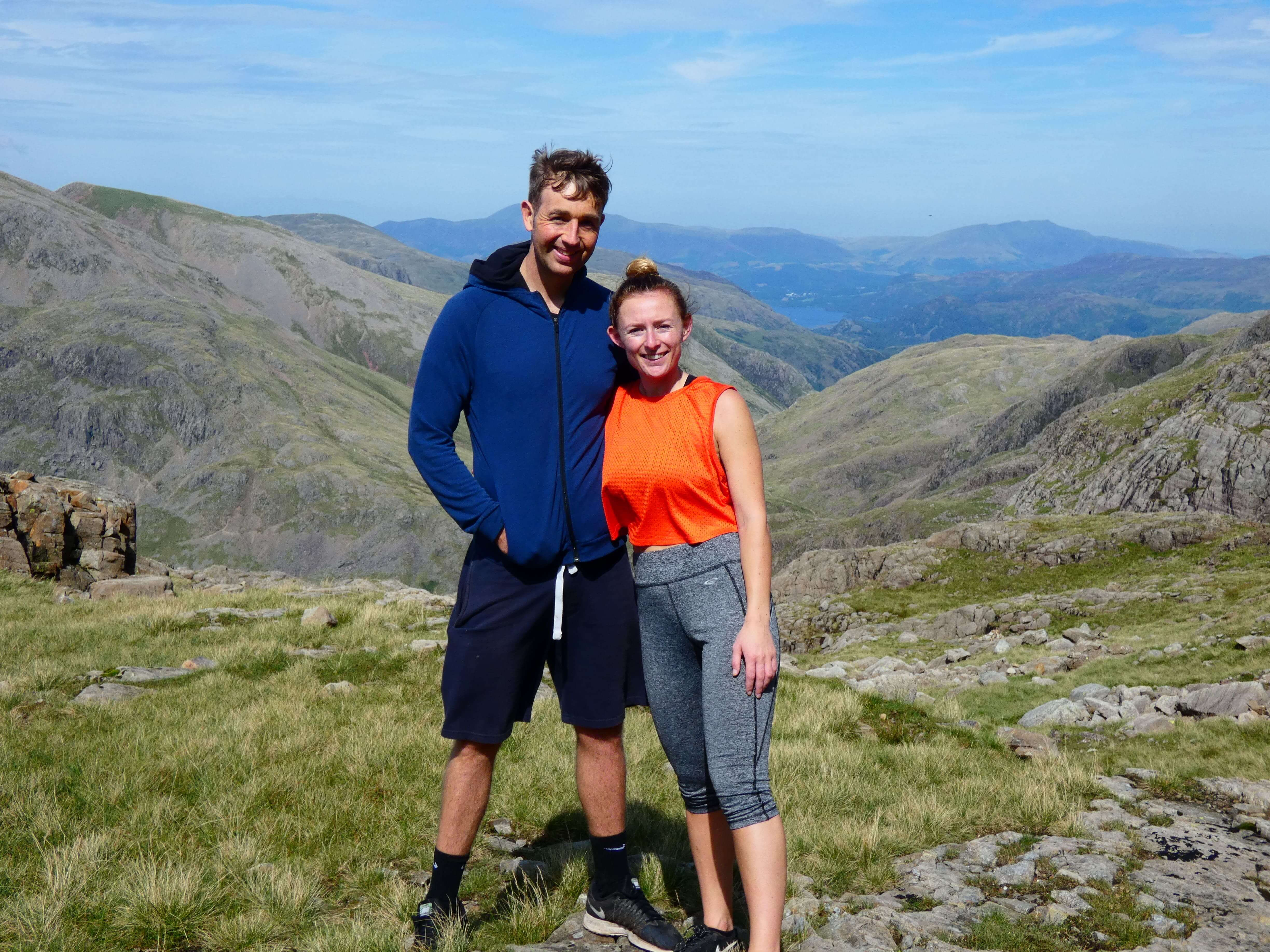 finding the scafell pike mountain