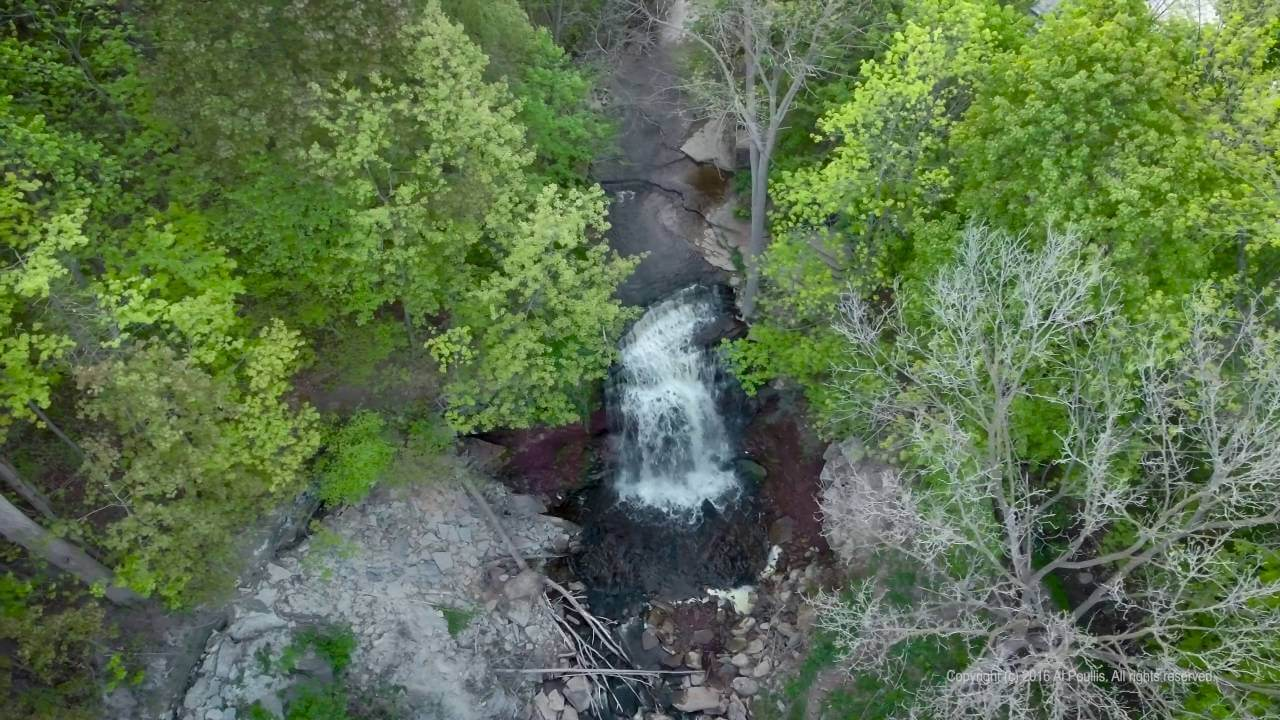 bruce trail map, smokey hollow waterfall, smokey hollow