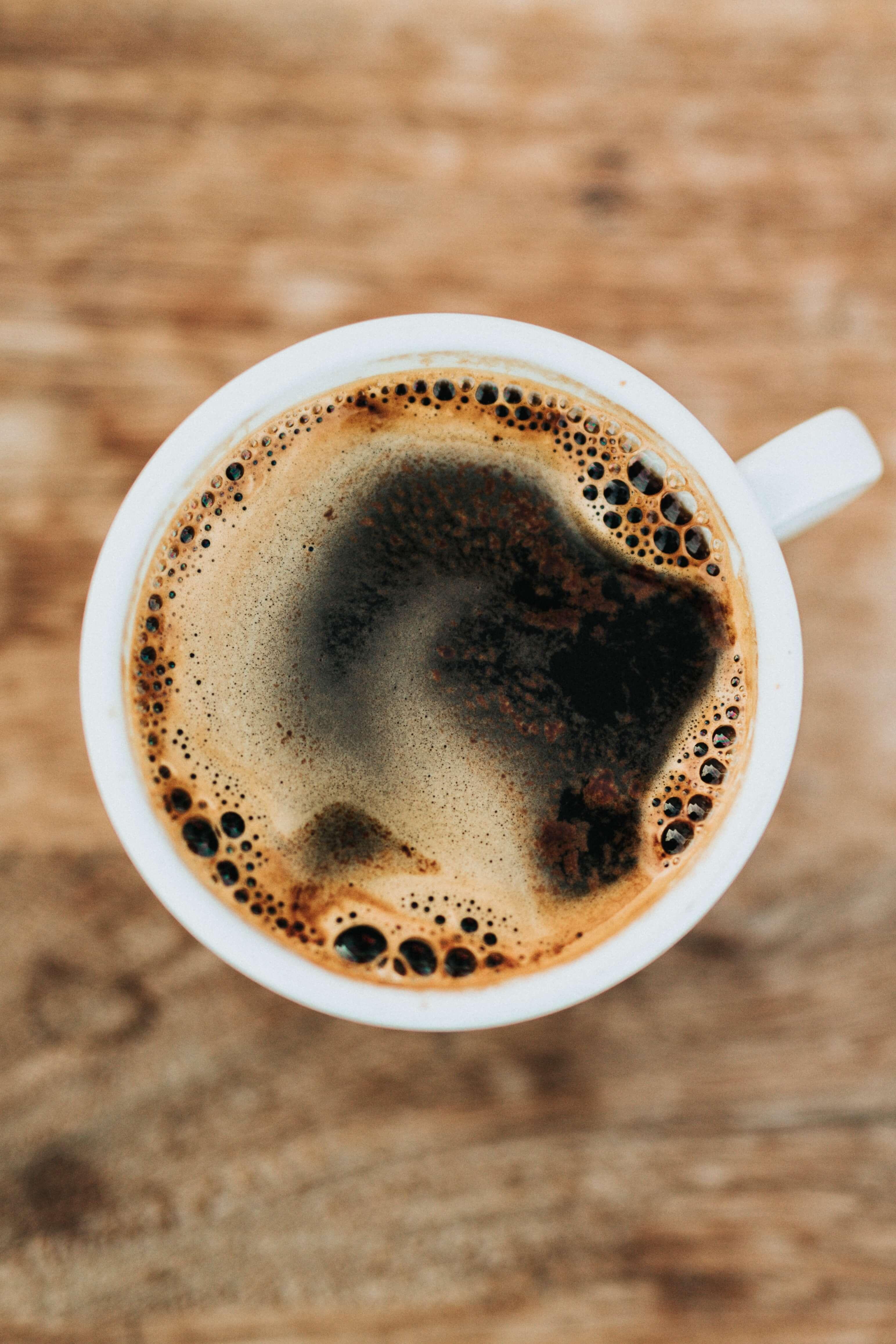having a coffee at Villa Coffeehouse idaho falls