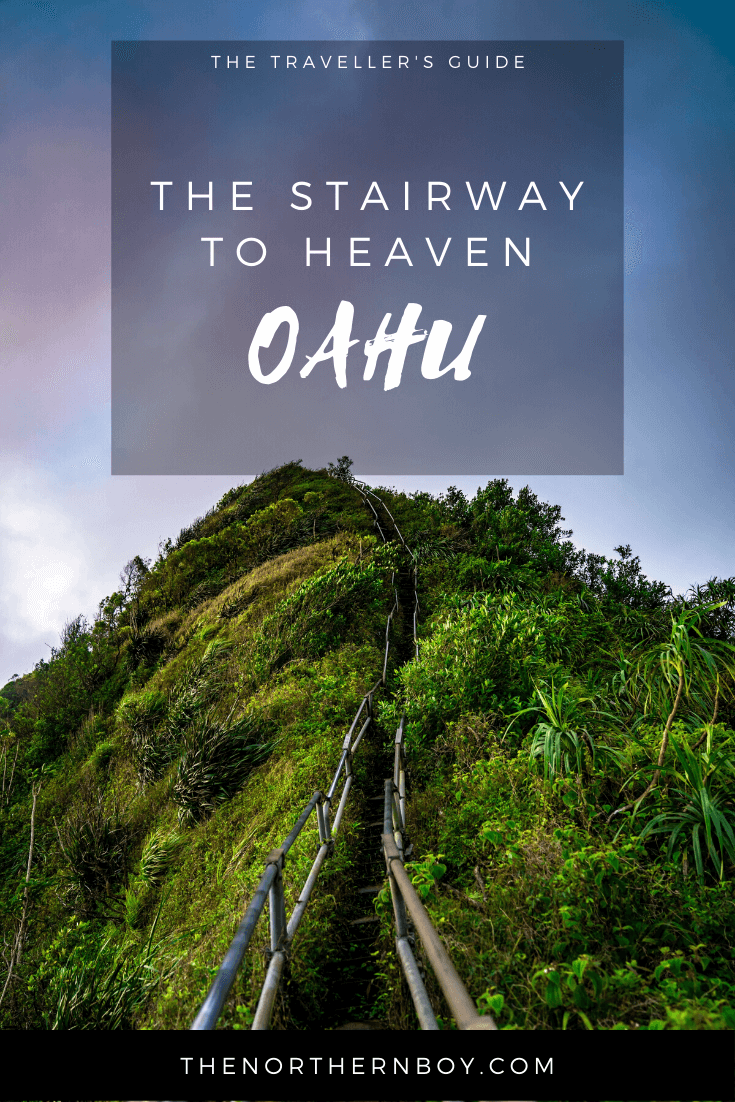 The stairway to heaven Oahu infographic