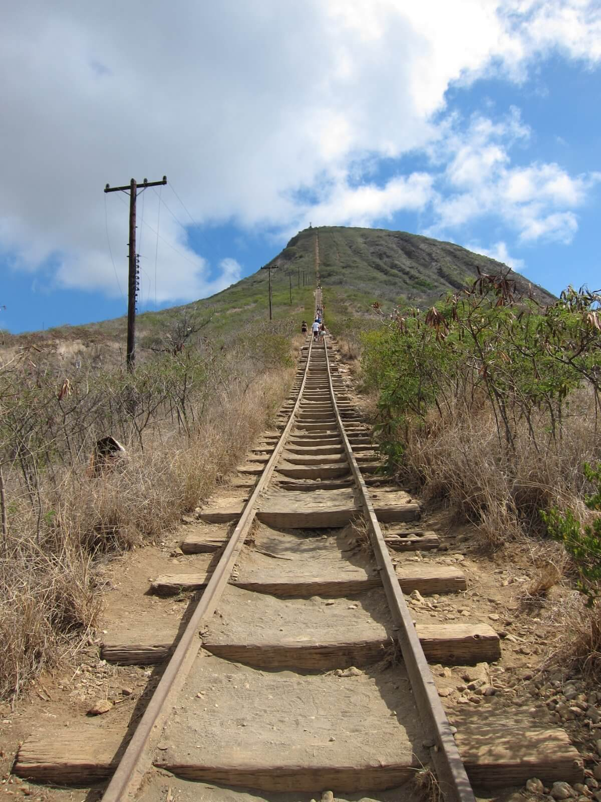 Photo of the koko Head stairs of doom