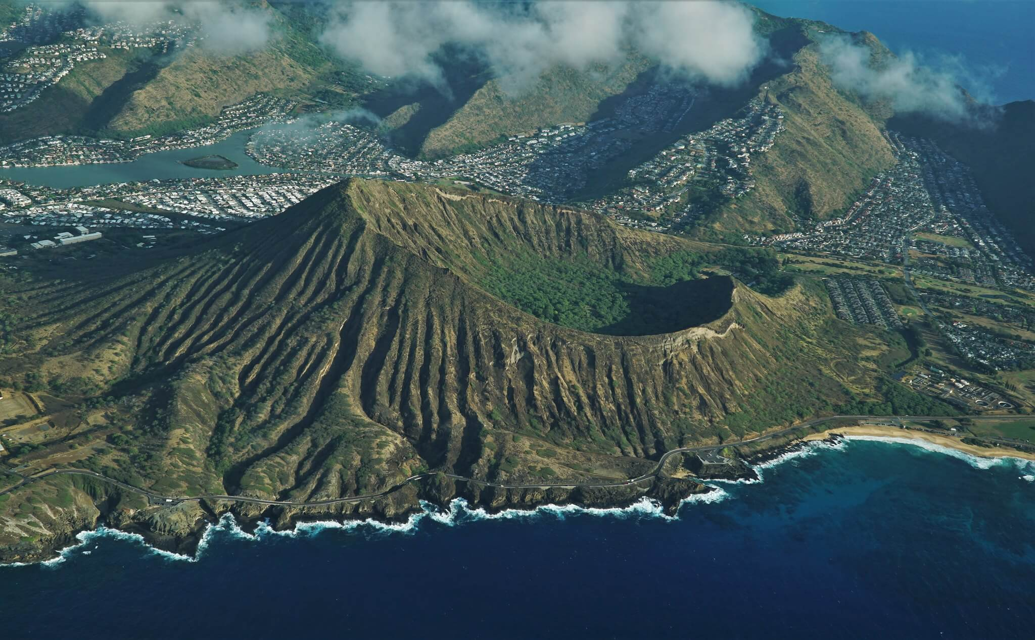 Overhead view of the Koko Crater Arch
