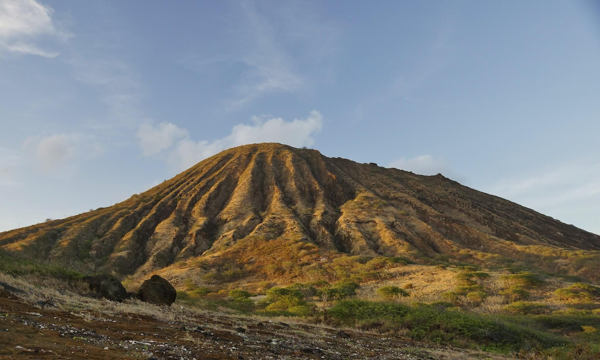 The beautul arch on the Koko Head crater