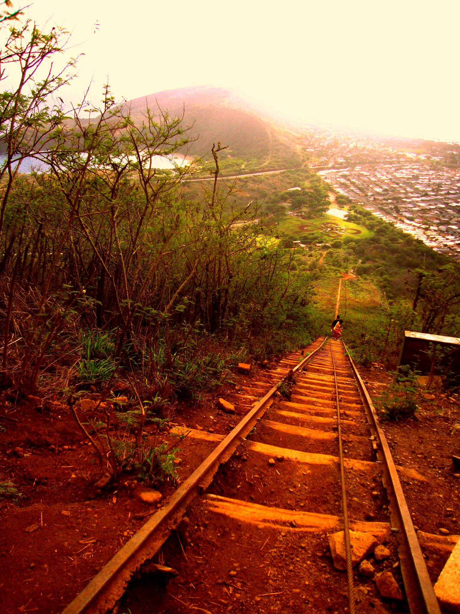 burning calories doing the Koko Head trail