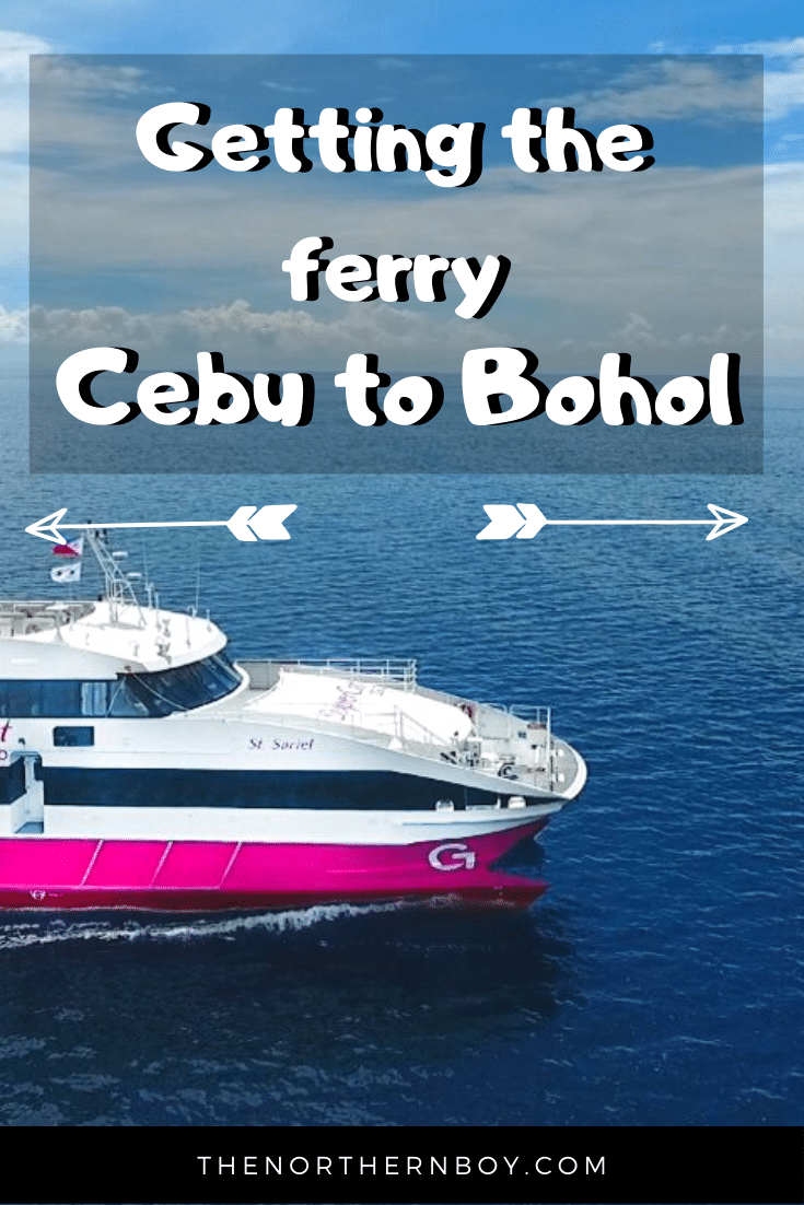 catching the ocean jet ferry to Bohol from Cebu