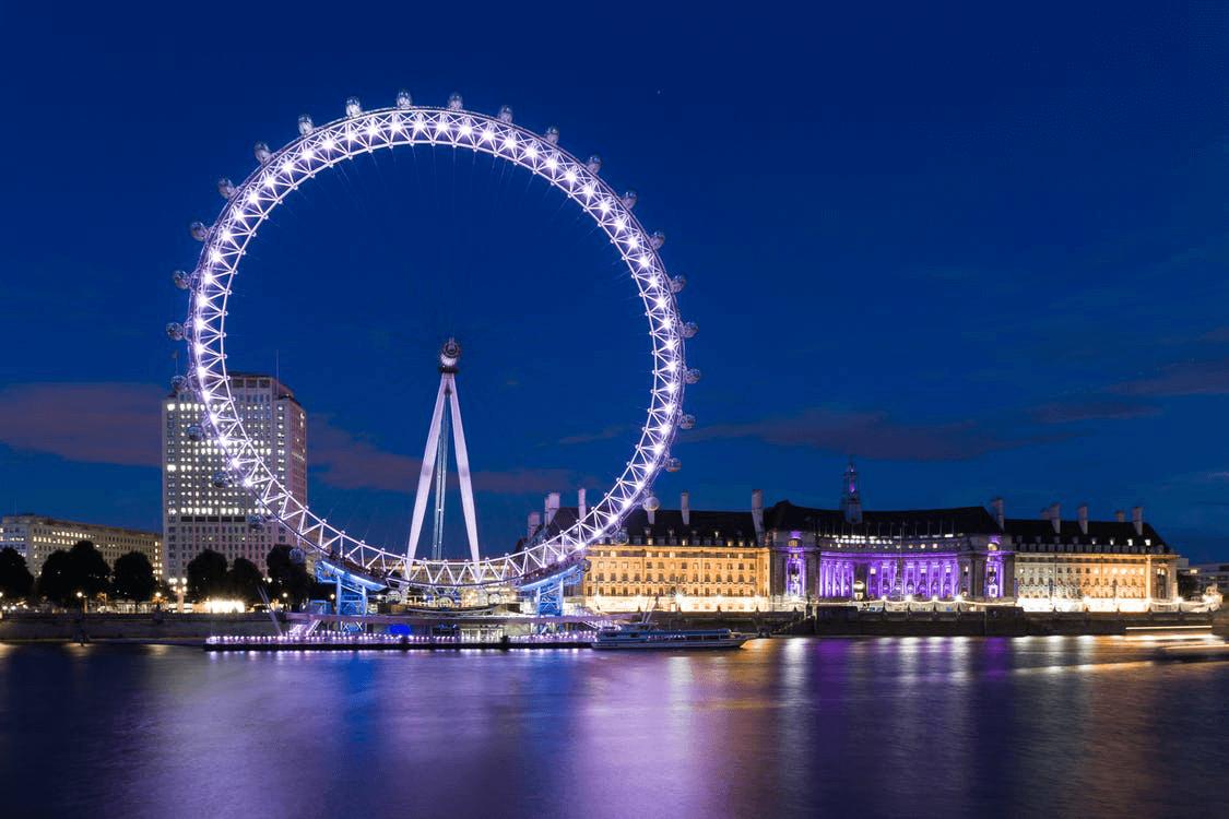 the breathtaking London eye
