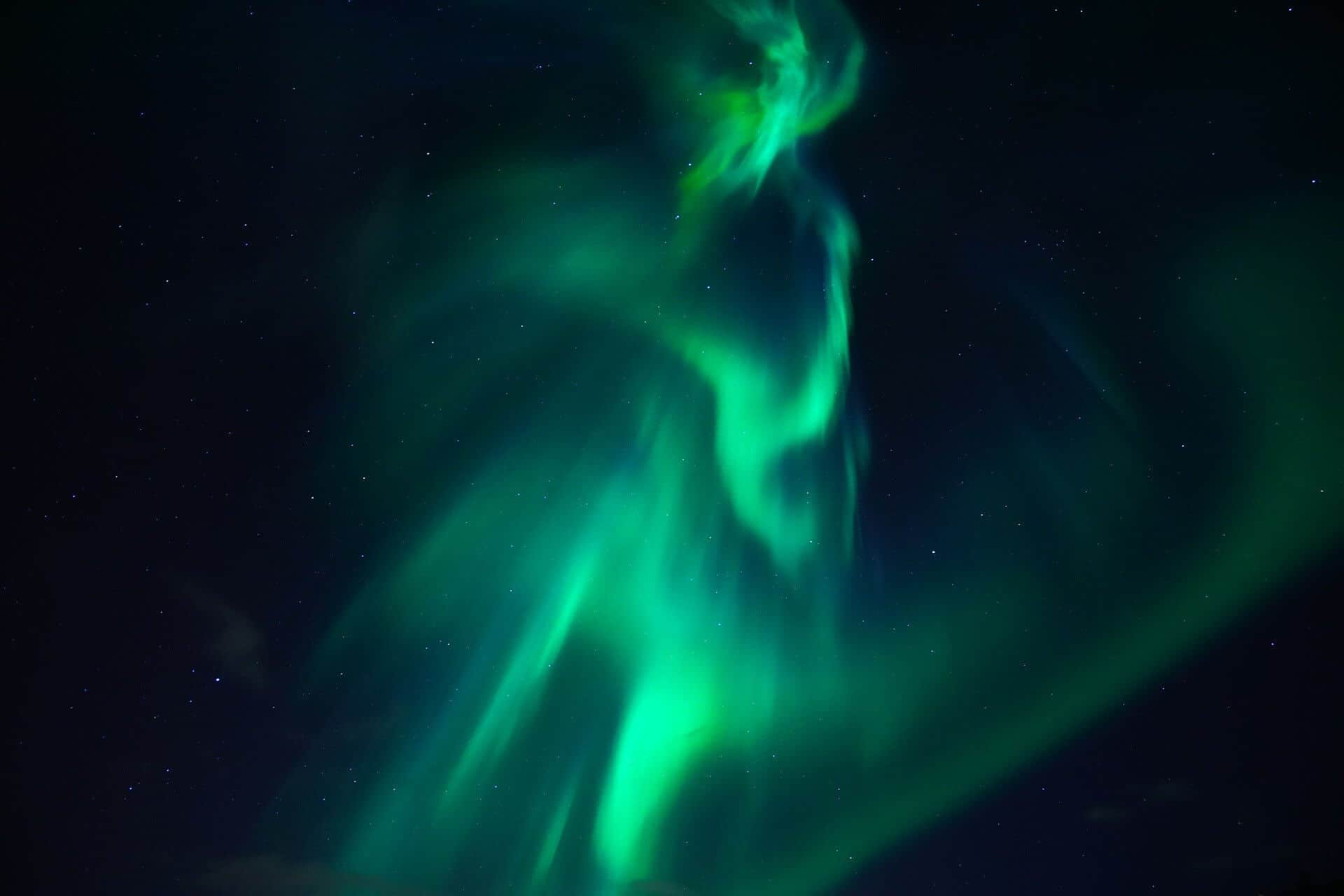 photo of the beautiful northern lights in iceland