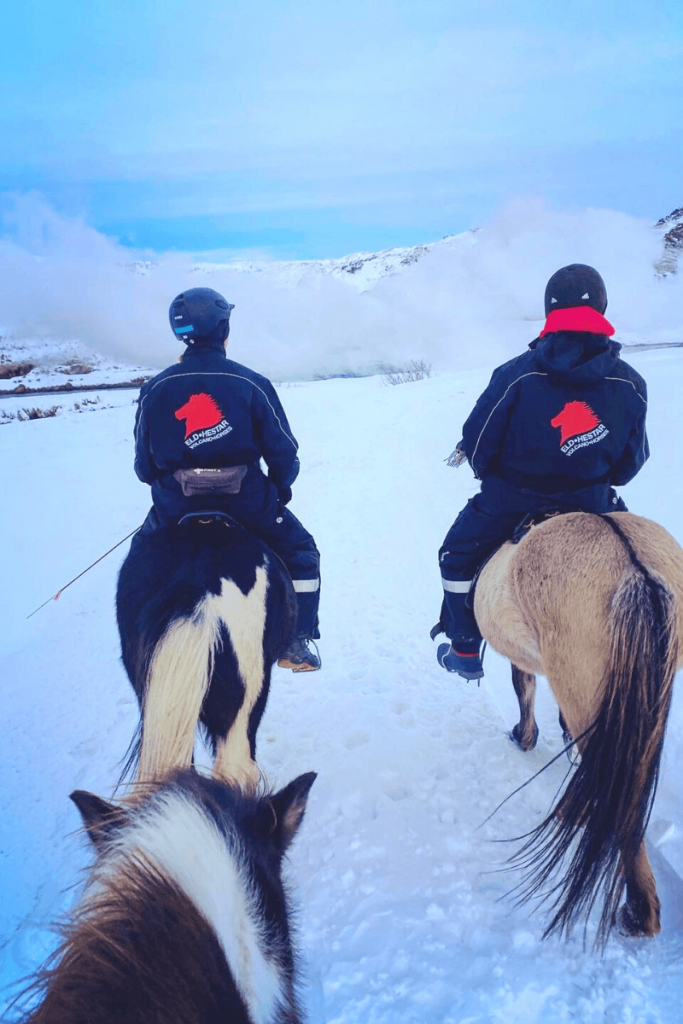 horseback riding south Iceland