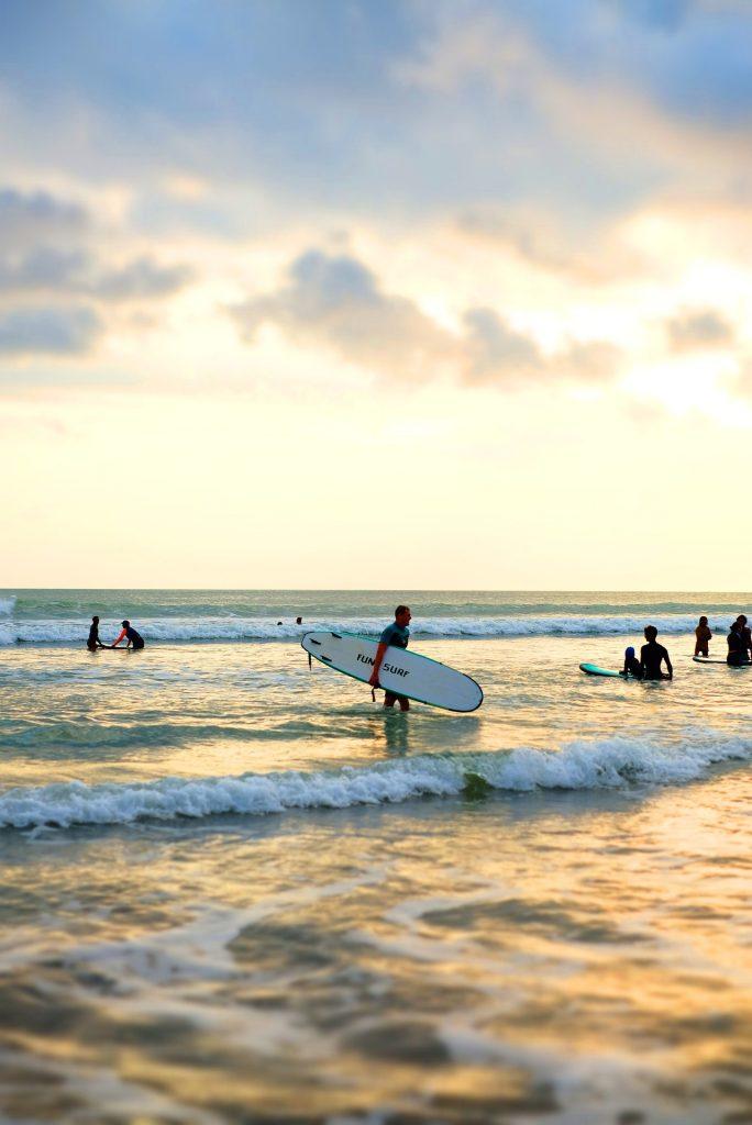 Surfing Seminyak Bali