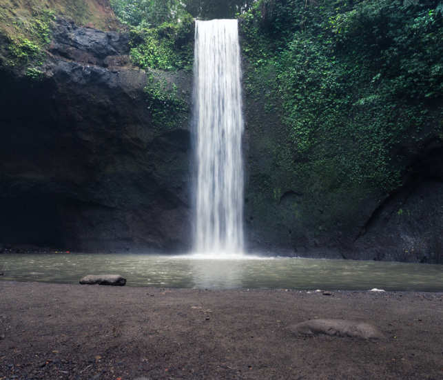 Tibumana waterfall in Ubud bali indonesia