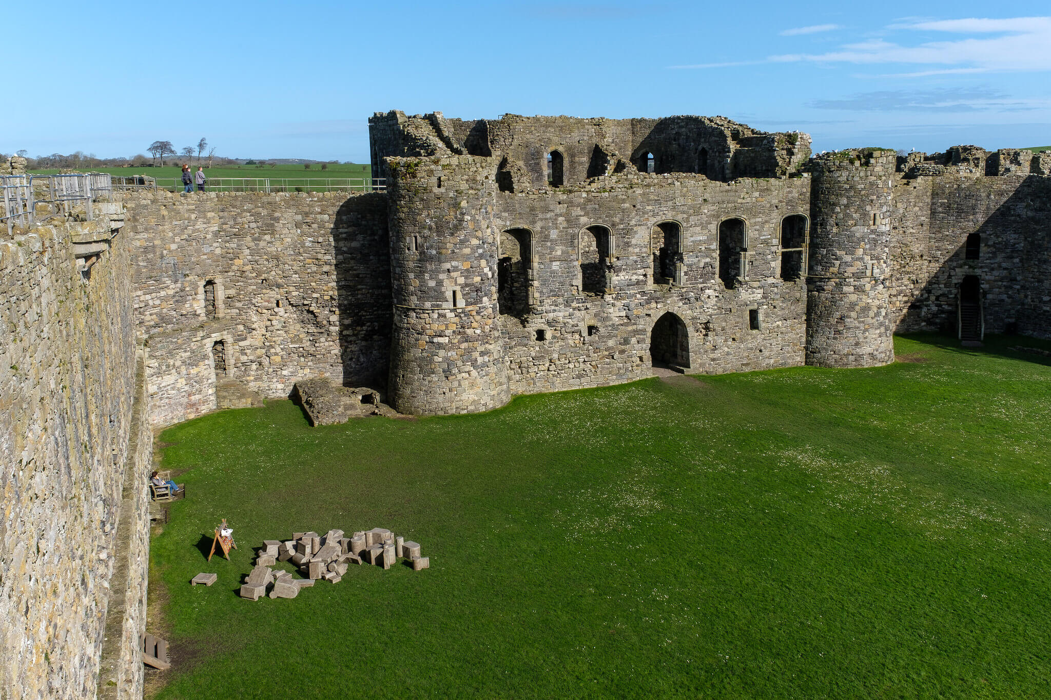 fortress walls Beaumaris Castle