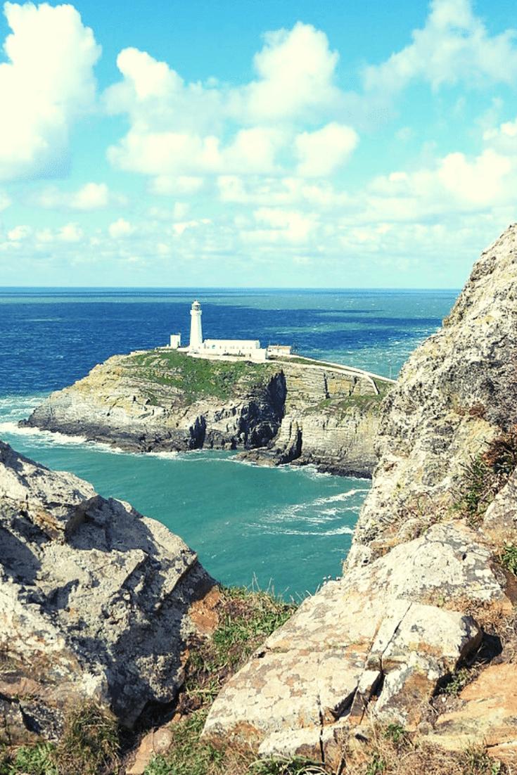 Trearddur Bay Beach lighthouse