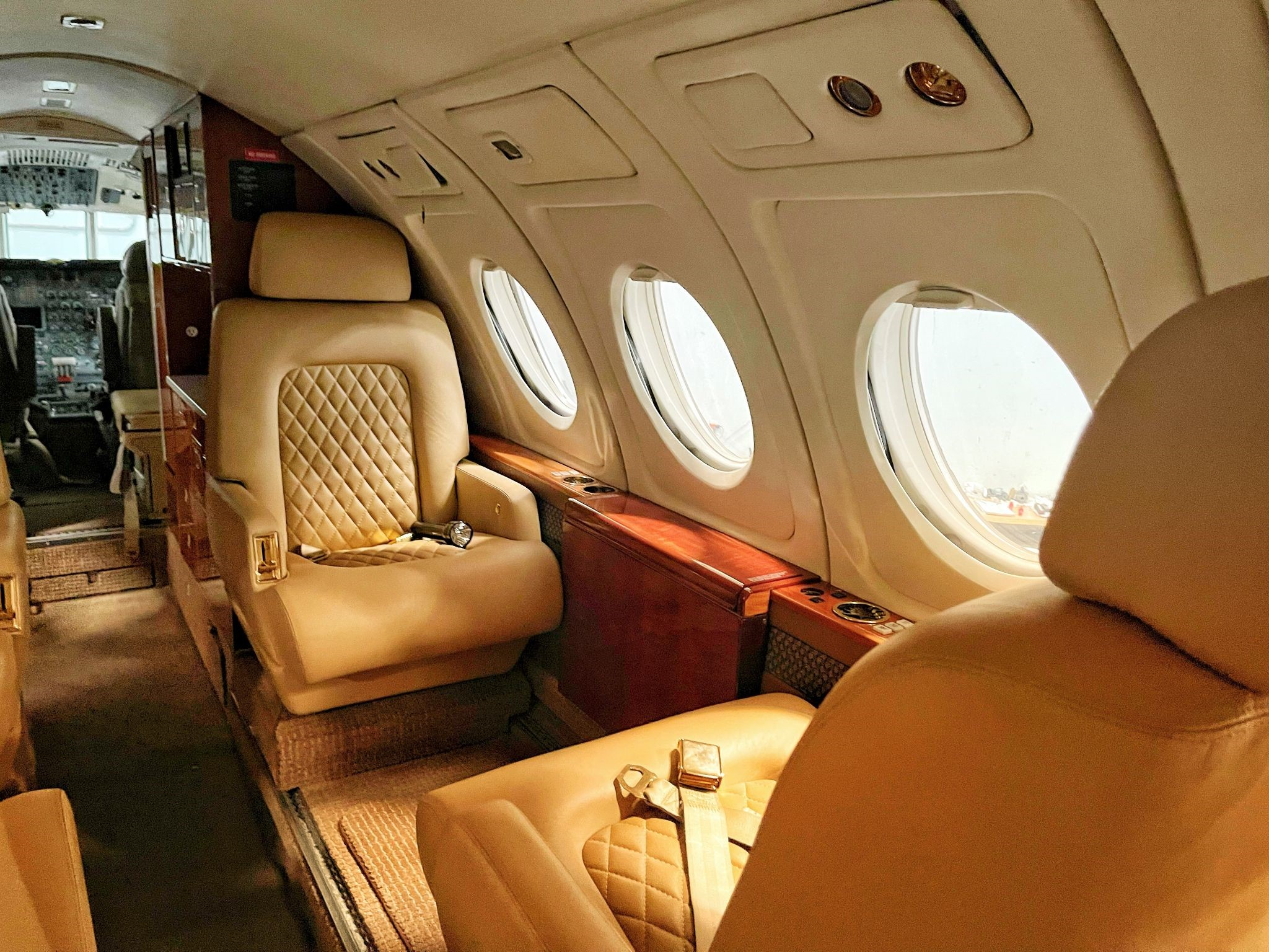 inner part of a private jet